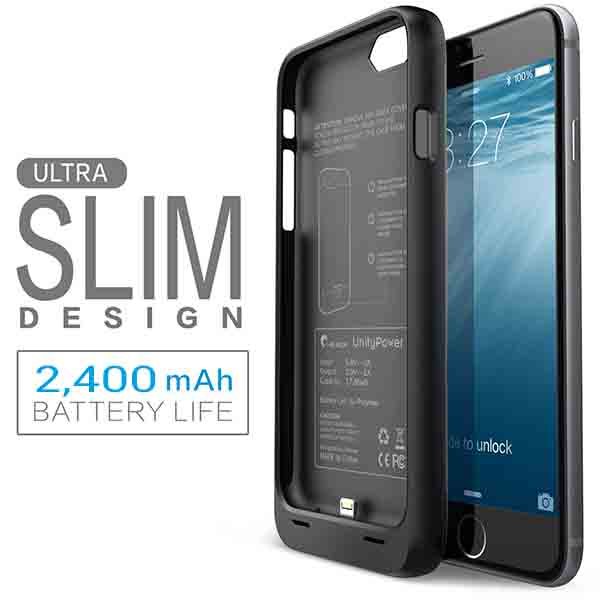 cheaper b3f7a a68ea Apple iPhone 6 Plus / 6S Plus Ultra Slim Battery Case (Back Cover with  in-built Power Bank) | 2400mAh