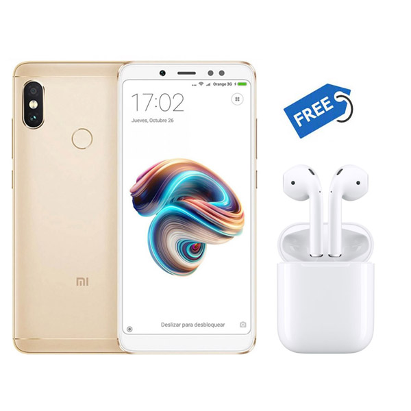 new concept 06fd8 c2a04 Xiaomi Redmi Note 5 Pro Crystal Clear Soft Silicone Back Cover + Wireless  Stereo Music EarPods (Dual Optical Sensors) | Red